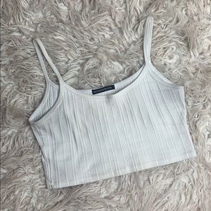 White brandy Melville ribbed tank
